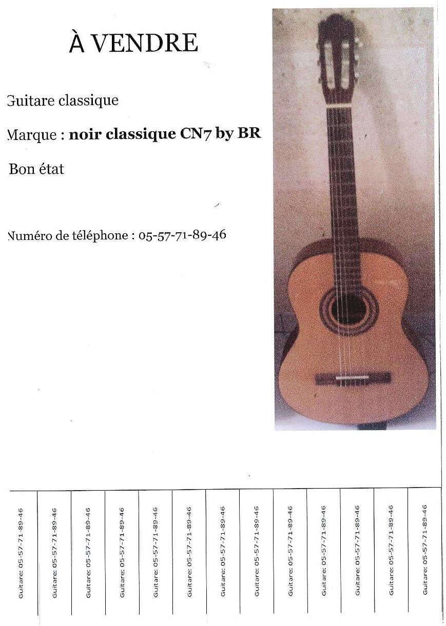 Annonce guitare lourdel gaetan