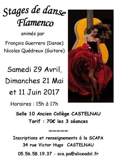 Stage de danse et guitare flamenco affiche2017 jpg